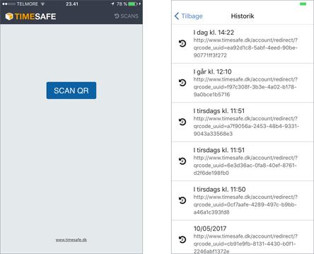 TIMESAFE QR app - QR scanner